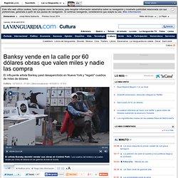 Banksy vende valiosas obras en Central Park por 60 dólares