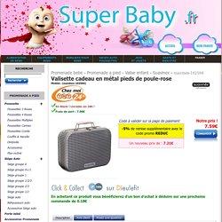 Valisette cadeau en métal pieds de poule-rose Suavinex - SuperBaby