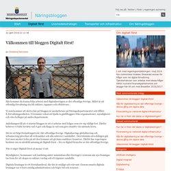 Välkommen till bloggen Digitalt först!
