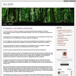 Pr Vallancien : une confusion consternante. - Doc GOMI
