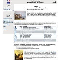 Site Rose-Valland - Musées Nationaux Récupération