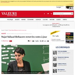 Najat Vallaud-Belkacem remet les notes à jour