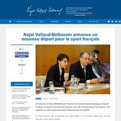 Najat Vallaud-Belkacem annonce un nouveau départ pour le sport français