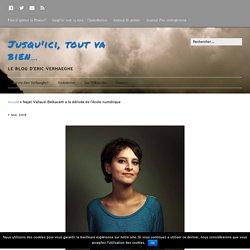 Najat Vallaud-Belkacem à la dérivée de l'école numérique