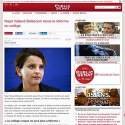 Najat Vallaud-Belkacem lance la réforme du collège