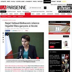 Najat Vallaud-Belkacem relance l'égalité filles-garçons à l'école