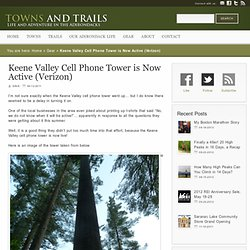 Keene Valley Cell Phone Tower is Now Active (Verizon) - Towns and Trails