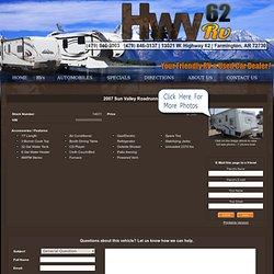 2007 Sun Valley Roadrunner 161 - Hwy 62 RV Farmington, AR 72730