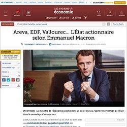 Areva, EDF, Vallourec… L'État actionnaire selon Emmanuel Macron