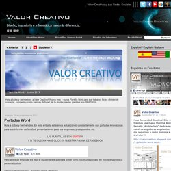 Valor Creativo: Portadas Word