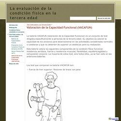Valoracion de la Capacidad Funcional (VACAFUN) - La evaluación de la condición física en la tercera edad
