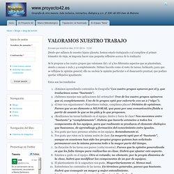 VALORAMOS NUESTRO TRABAJO by krmnfr