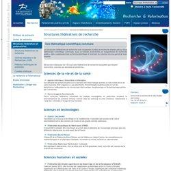 Recherche Valorisation - Structures fédératives de recherche