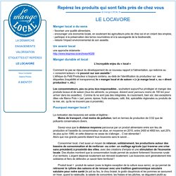 Locavore : Je mange LOCAL - Dispositif national de valorisation des productions locales : Le locavore