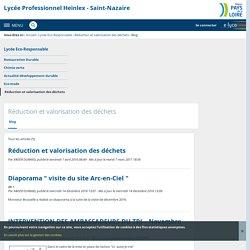 Blog - Réduction et valorisation des déchets - Lycée Professionnel Heinlex - Saint-Nazaire