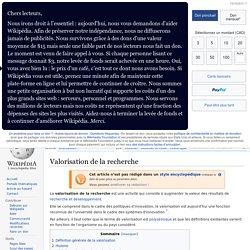 Valorisation de la recherche