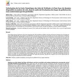 UNIVERSITE DE LIEGE - 2011 - Valorisation de la Carte Numérique des Sols de Wallonie et d'une base de données disponible en anal