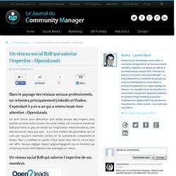 Un réseau social B2B qui valorise l'expertise : Open2Leads