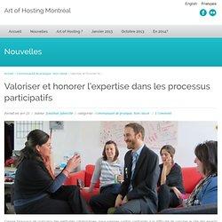 Valoriser et honorer l'expertise dans les processus participatifs