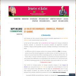 La valse des marques : Ombrelle, produit et gamme
