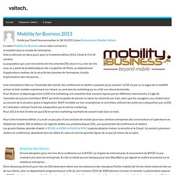 Mobility for Business 2013