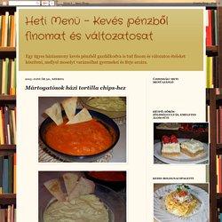Heti Menü - Kevés pénzből finomat és változatosat: Mártogatósok házi tortilla chips-hez