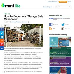 Valuable Items to Look for at Garage Sales to Flip