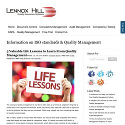 5 Valuable Life Lessons to Learn From Quality Management