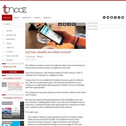 Just how valuable are online reviews? - Tnooz
