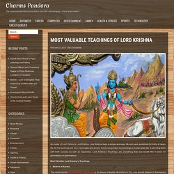 Learn Important Teachings of Lord Krishna