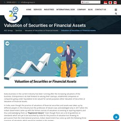 Valuation of Securities or Financial Assets: Plant and Machinery