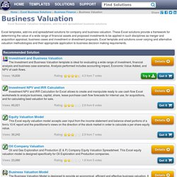 Excel Business Valuation Templates