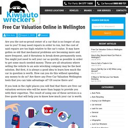 Free Used Car Valuation Wellington - Market Value of Old Cars