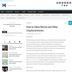 How to Value Bitcoin and Other Cryptocurrencies