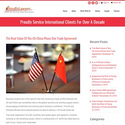 The Real Value of the US-China Phase One Trade Agreement