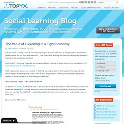 The Value of eLearning in a Tight Economy