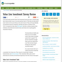 Value Line Investment Survey Review