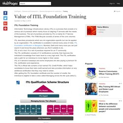 Value of ITIL Foundation Training