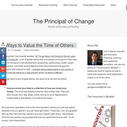3 Ways to Value the Time of Others – The Principal of Change