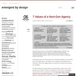7 Values of a Next-Gen Agency