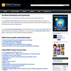 ORAC Values - The Best Antioxidants and Superfoods