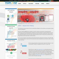 WW1 - Values from History - Inspire Aspire
