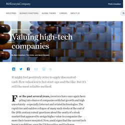 Valuing high-tech companies