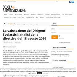 Valutazione dei Dirigenti Scolastici: direttiva 18 agosto 2016 - Scuola e Amministrazione
