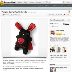 Vampire Bunny Plushie How-to!