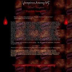 VAU: Real Vampire Exchange: Psychic Vampires