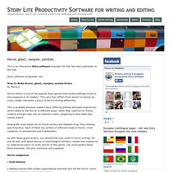 Story Lite Productivity Software for writing and editing