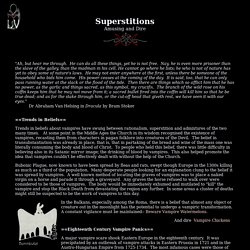 Vampire Superstitions
