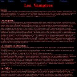 Vampires : origine, littérature, réalité
