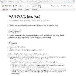 VAN (VAN, fonction)